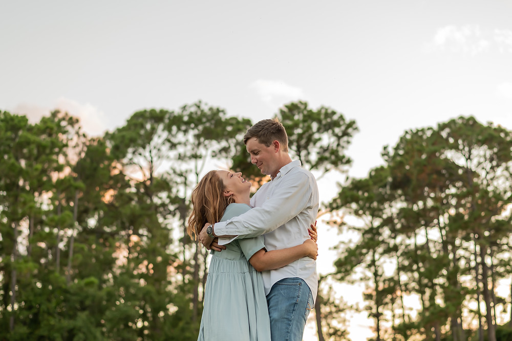 Katelyn & Joey's engagement session on Burke's Beach in Hilton Head, South Carolina.