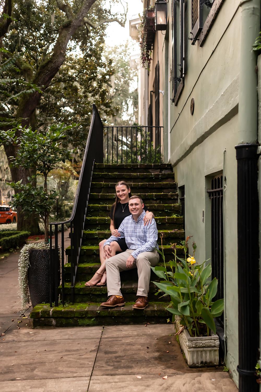 John proposes to Taylor in Forsyth Park in Savannah, Georgia.
