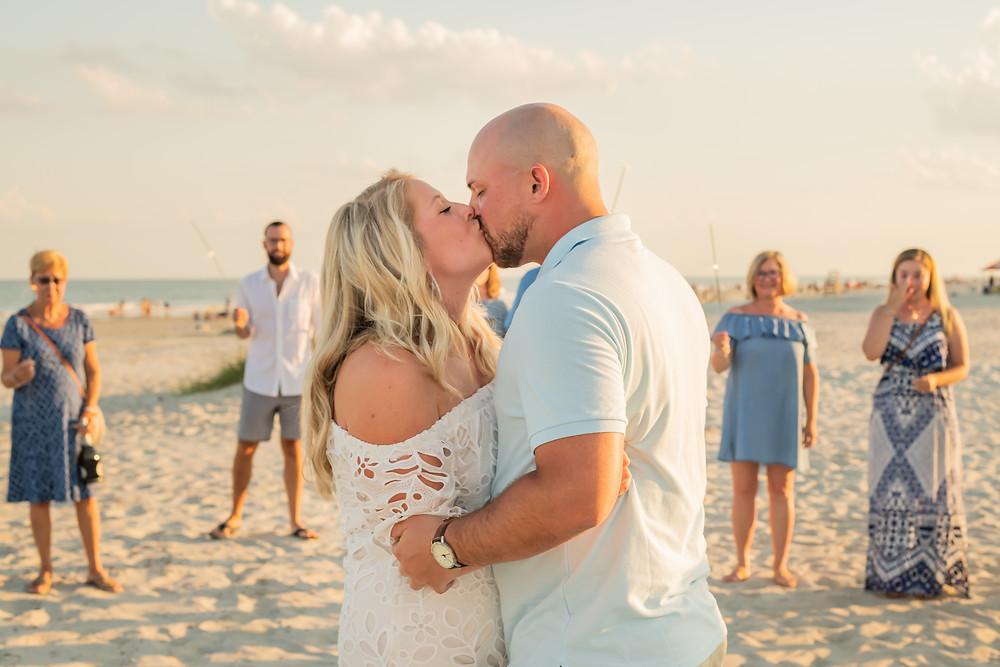 Frankie proposes to Ali on Hilton Head Island in South Carolina.