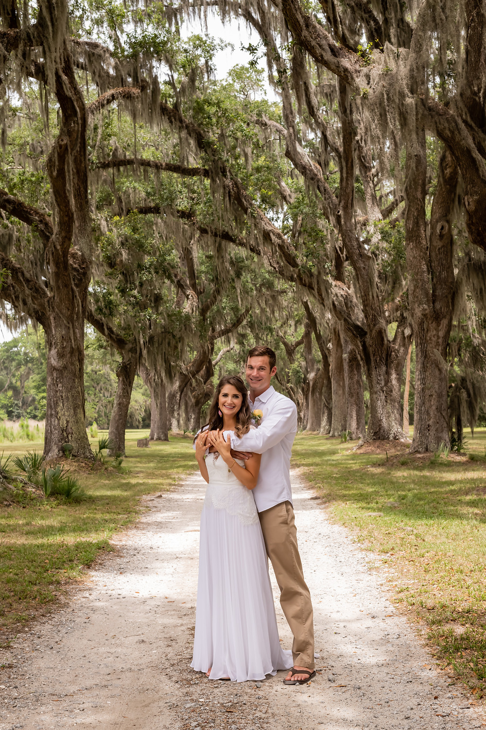 Sagen and Travis get married on a piece of private property in Savannah, Georgia.