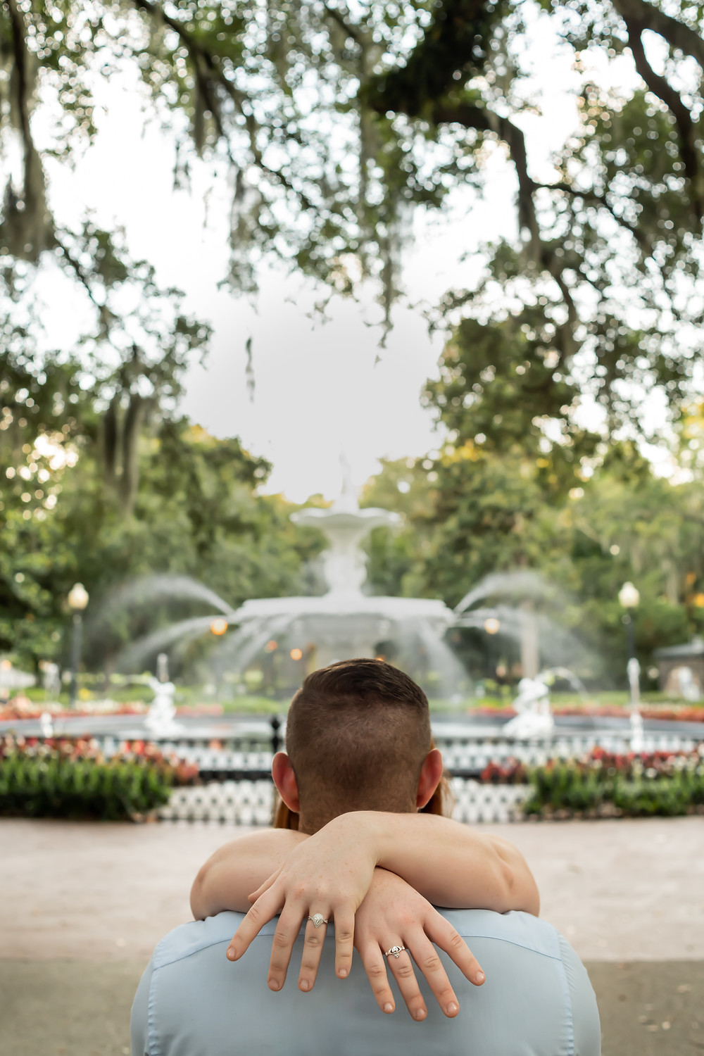Lilly & Bryan's engagement session in Historic Downtown Savannah.