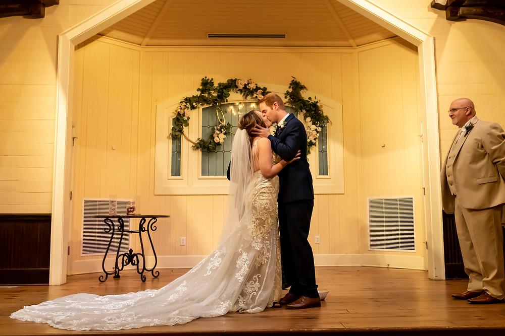 Erica and Scott's wedding at Tybee Island Wedding Chapel on Tybee Island in Georgia.