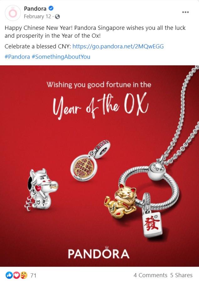 Pandora CNY Marketing