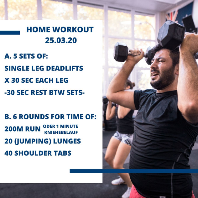 Home Workout 25.03.20