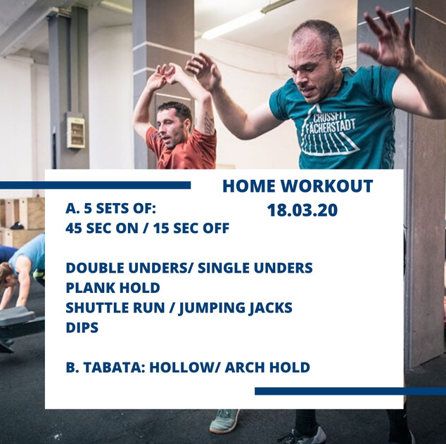 Home Workout 18.03.20