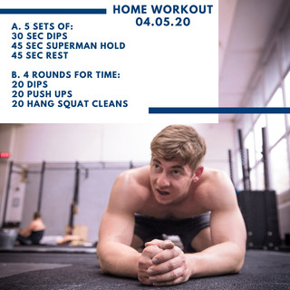 Home Workout 04.05.20