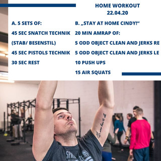 Home Workout 22.04.20