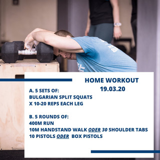 Home Workout 19.03.20