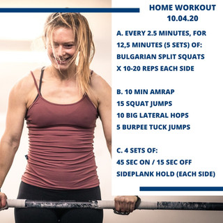 Home Workout 10.04.20