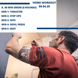 Home Workout 09.04.20
