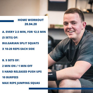 Home Workout 20.04.20