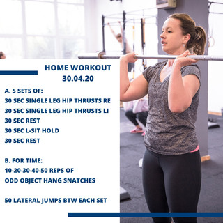 Home Workout 30.04.20