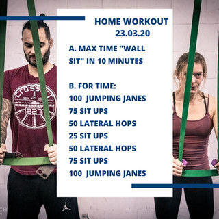 Home Workout 23.03.20
