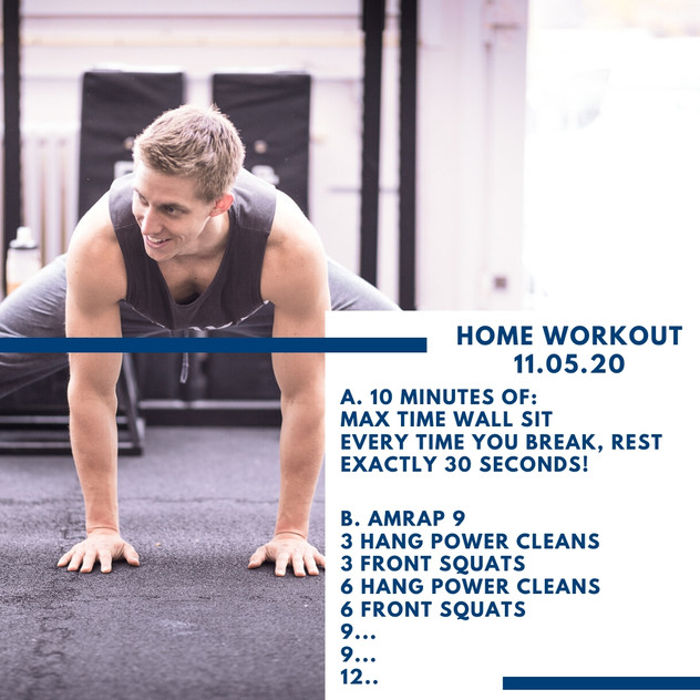 Home Workout 11.05.20