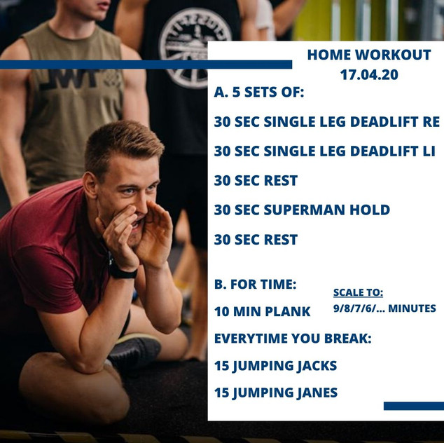 Home Workout 17.04.20