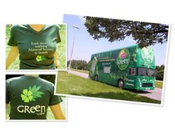 Bus et t-shirt Lipton Ice Tea Green