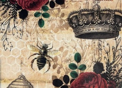 Crowns, Bees and Roses - Large
