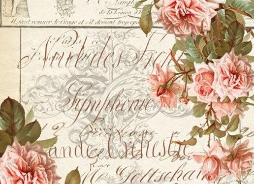 #19 Decoupage Paper - Flowers