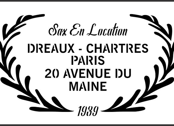 Dereaux - Chartres French Stencil