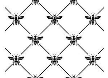 "Bee Positive Stencil 12"" x 12"""