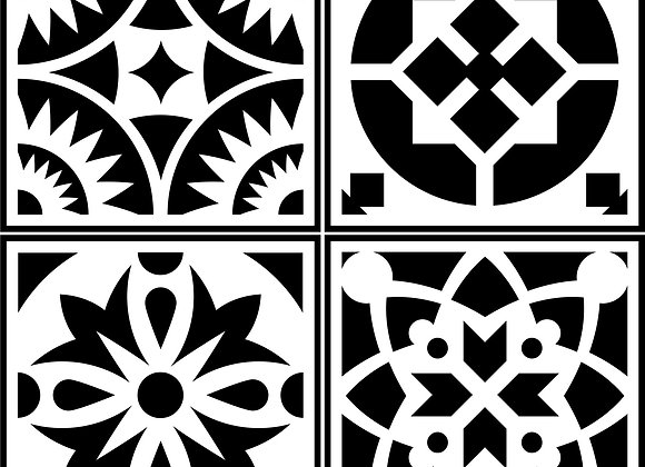 Jami Ray Stencils - Spanish Tile