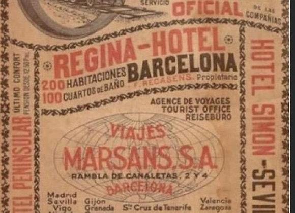#20 Decoupage Paper - Regina Hotel