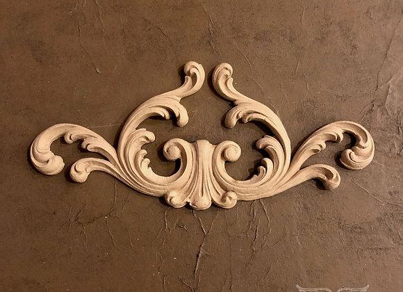 Wood U Bend #1418 Decorative Plumes