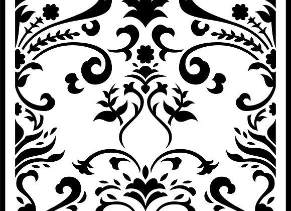 JRV Stencil - Damask Tile