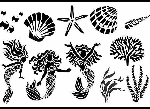 Jami Ray Stencils - Mermaid Magic