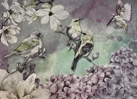 Lilacs And Hummingbirds - Large