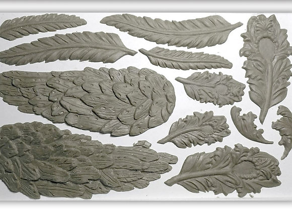 """IOD Decor Mould - Wings and Feathers 6"""" x 10"""""""