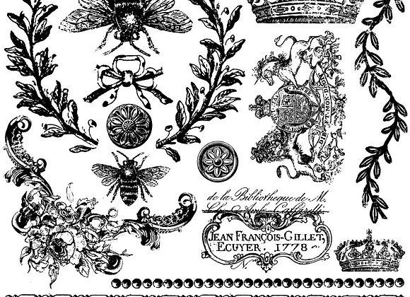 "IOD Decor Stamp - Queen Bee 12"" x12"""