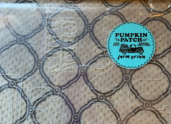 Jami Ray Stencils - Pumpkin Patch