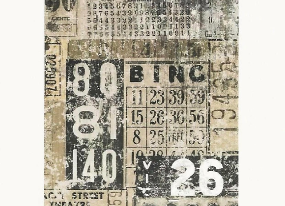 #10 Decoupage Paper - Grunge Numbers