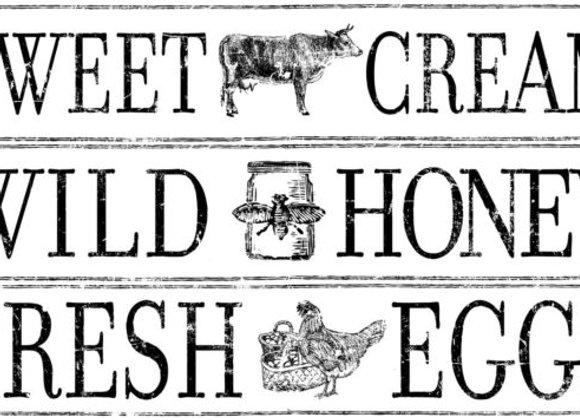 """Farm Fresh Signage 14.25"""" x 24"""" Decor Transfer™"""