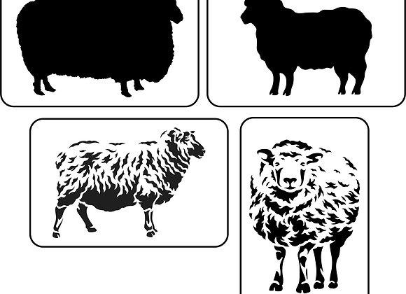 JRV - Silhouette Sheep Stencil