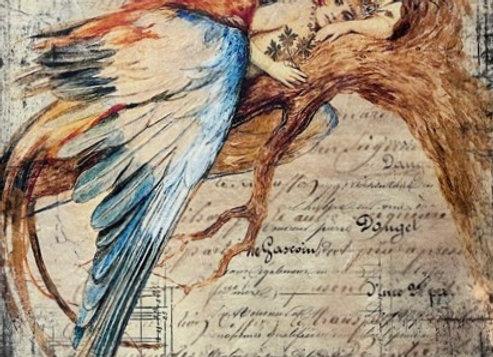 Lady Bird on Limb - Medium