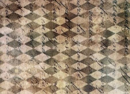 #2115 Script on Diamond   Backdrop - Medium