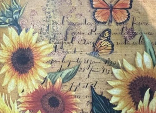 Sunflowers and Butterflies - Large