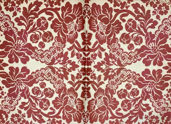 #8 Decoupage Paper - Red Print