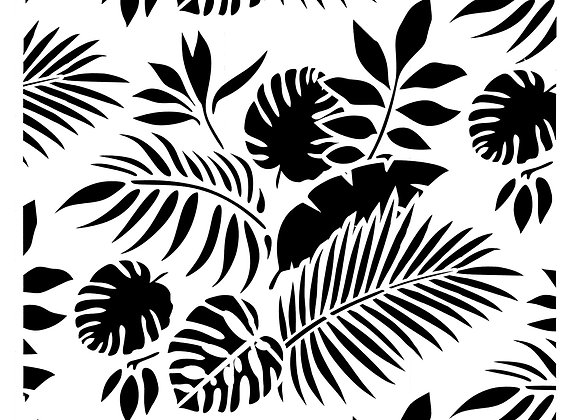 Posh Chalk Stencil Tropical Leaves