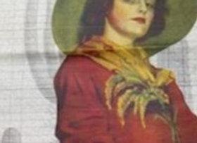 #24 Decoupage Paper - Lady In Green Hat