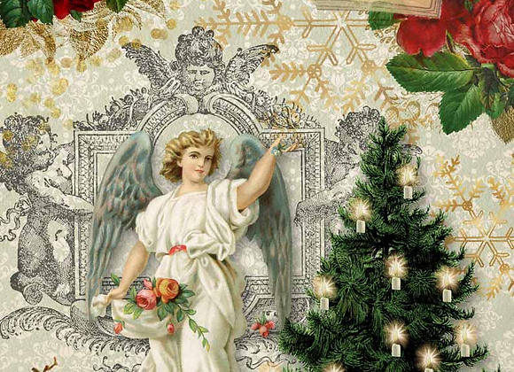 Christmas Angel With Tree 0060 - Small