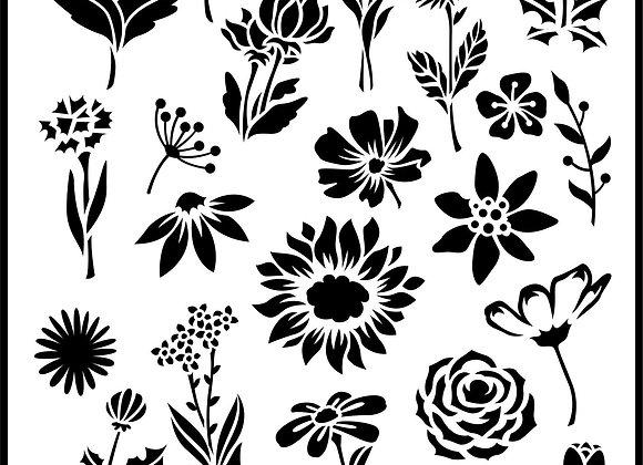 Jami Ray Stencils - Flower Garden