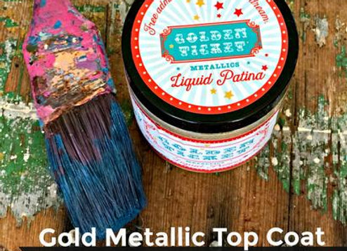 Golden Ticket Liquid Patina