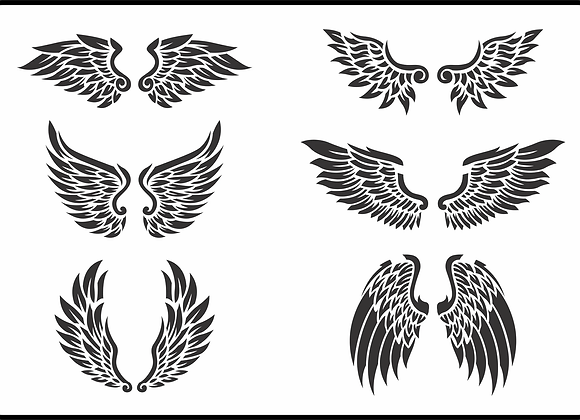 Jami Ray Stencils - Wings