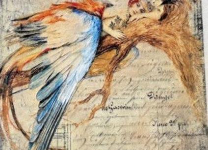 Lady Bird on Limb - Large