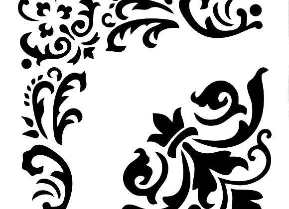 Wood U Bend Corners Stencil