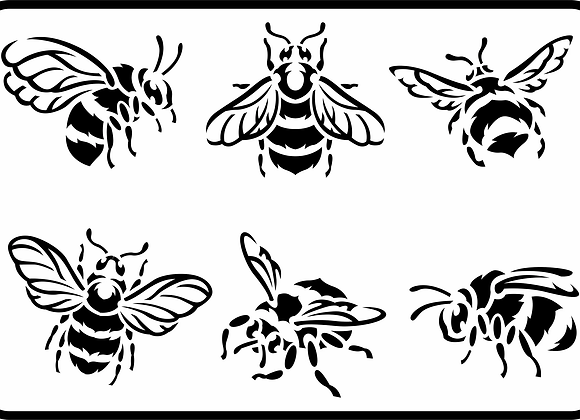 Jami Ray Stencils - Bees