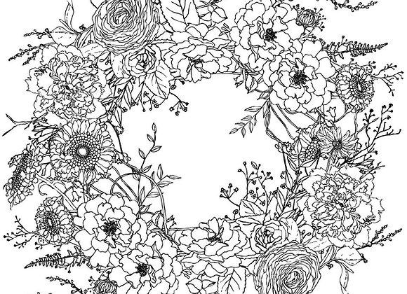 "IOD Decor Transfer - Winter's Song Wreath 24"" x 24"""